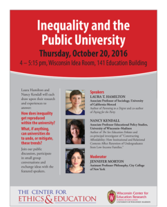 Event Poster for Inequality and the Public University
