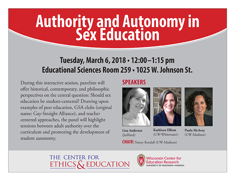 Authority and Autonomy in Sex Education