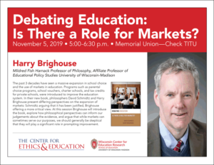 Event Poster for Debating Education with Harry Brighouse