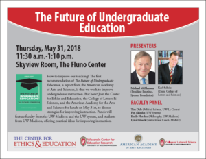 Event Poster for The Future of Undergraduate Education