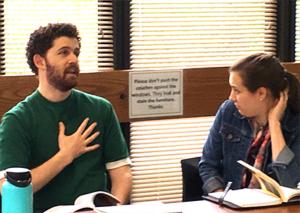 Ellis Reid and Kirsten Welch chatting